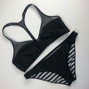 lululemon athletica Swim - Lululemon   Striped Reversible Bikini Black White